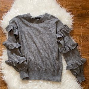 J.Crew ruffle sleeve sweater